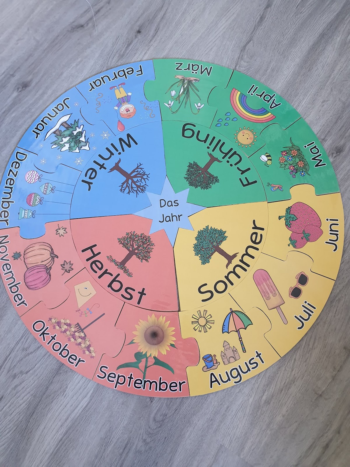 Grundschultante Jahreskreis Puzzle