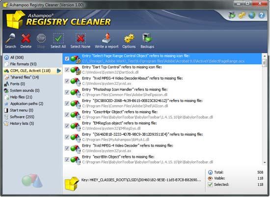 Ashampoo Registry Cleaner