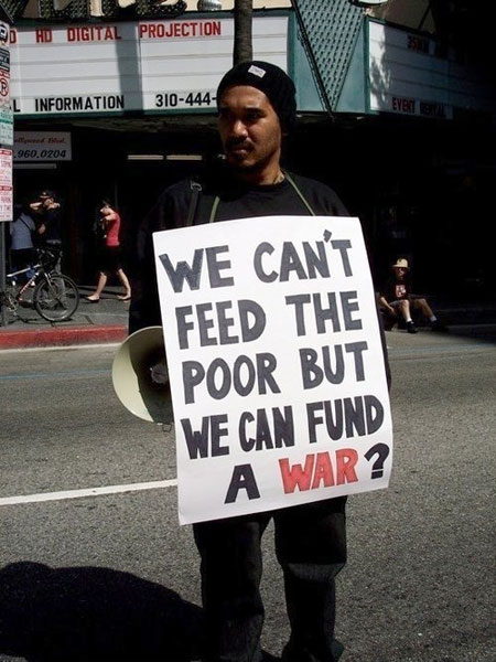 we cant feed the poor