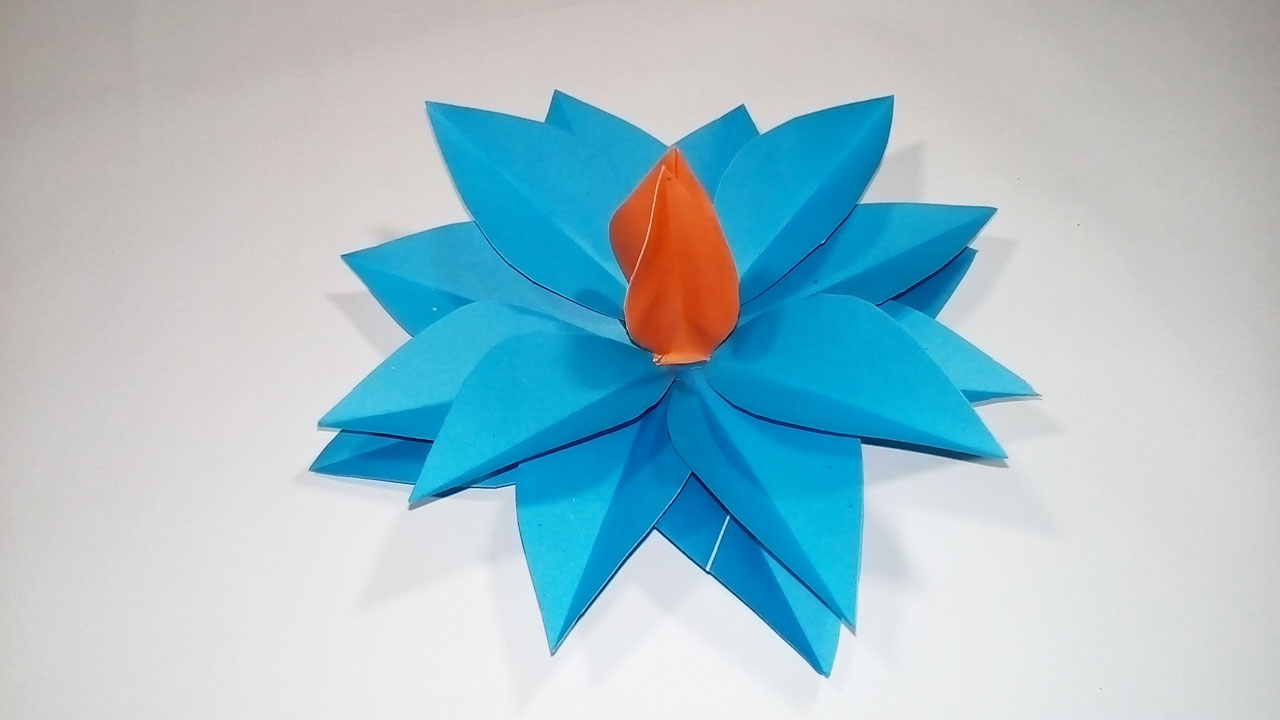 Easy paper origami how to make easy simple origami flower with how to make easy simple origami flower with colour paper diy easy paper flower making mightylinksfo