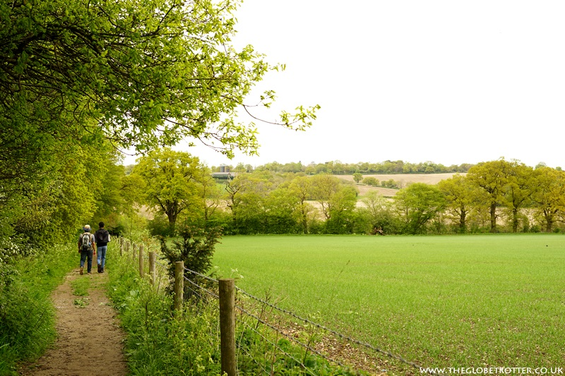 Down the hill to the Jubilee Path
