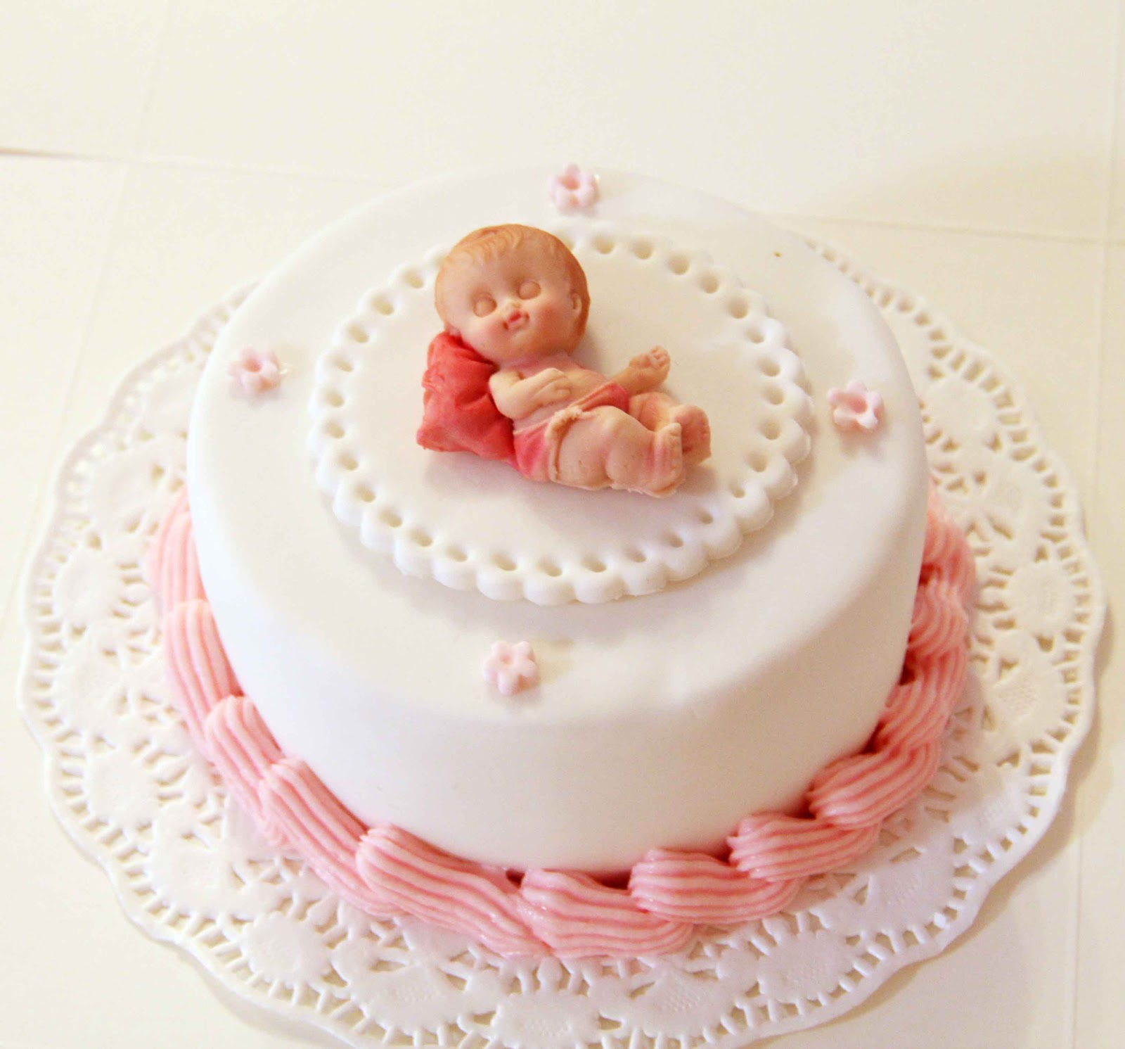 Baby Cake For A Month Old Celebration