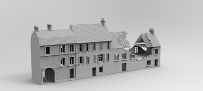 STRETCH GOAL £7500 LOCKED NORMANDY STREET RUIN SET picture 3
