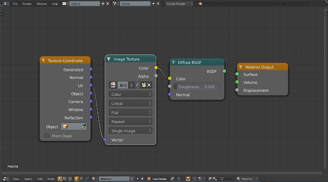Nodes untuk uv mapping blender cycles