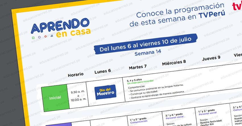 APRENDO EN CASA: Programación del Martes 7 al Viernes 10 de Julio - TV Perú y Radio (ACTUALIZADO) www.aprendoencasa.pe