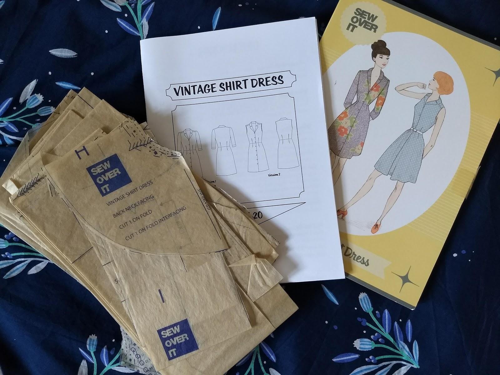 Sew Over It Vintage Shirt Dress and Lisa Comfort Fabric