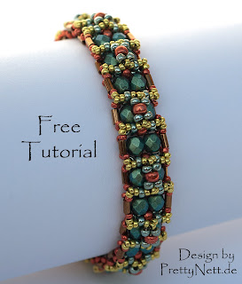"Free Beading Tutorial for Bracelet ""Oriental"" from PrettyNett.de"