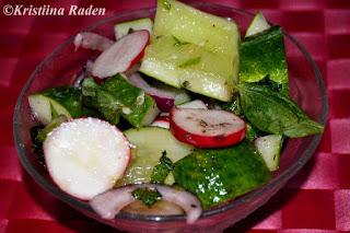 Smached cucumber salad
