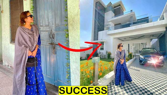 नेहा कक्जिकर जिस स्थान में किराय के मकान पर परिवार के साथ रहती थी, लिया उसी स्थान पर आलीशान बंगला