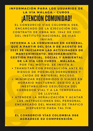 ¡ATENCIÓN COMUNIDAD!