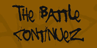 The Battle Continuez Free Font Graffiti