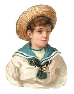 boy child sailor outfit illustration antique download