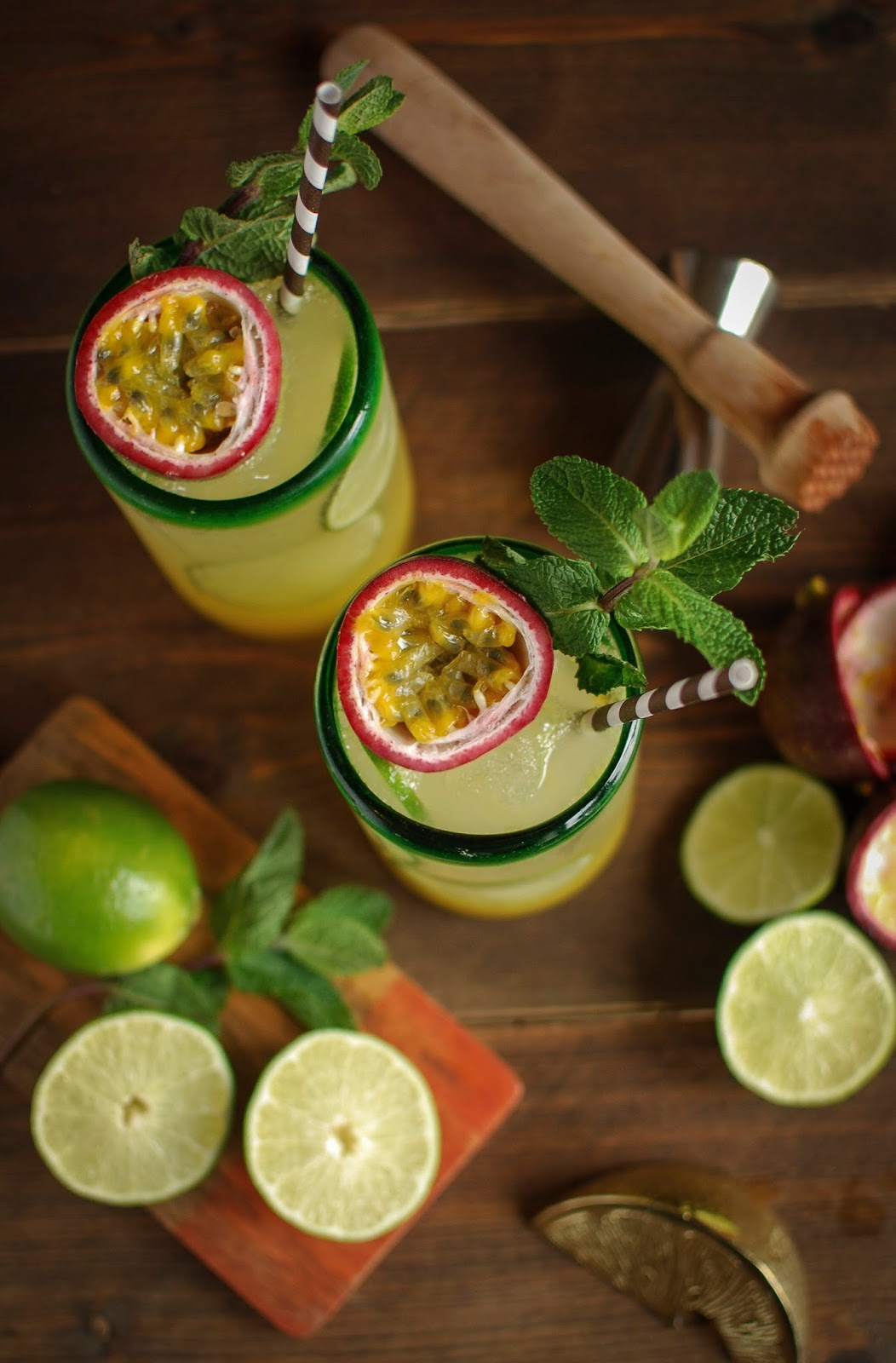 Mint & Passion Fruit Rum Punch | Katiecakes