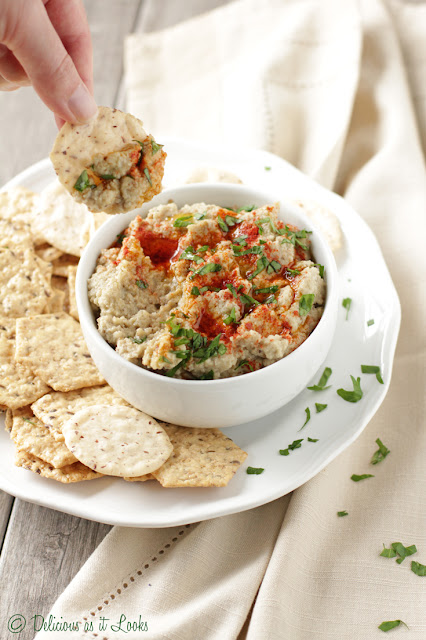 Low-FODMAP Baba Ganoush (Eggplant Dip)  /  Delicious as it Looks