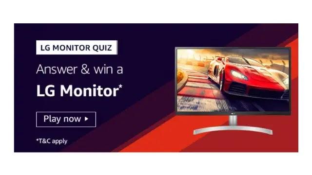 Amazon LG MONITOR QUIZ Answers & Win a LG MONITOR