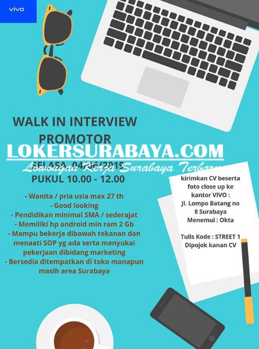 Walk In Interview Di Kantor Vivo Surabaya Terbaru Juni 2019 Lowongan Kerja Surabaya Januari 2021 Lowongan Kerja Jawa Timur Terbaru