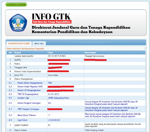 Info Terbaru : Silahakan Cek Aneka Tunjangan Guru 2017 Di INFO GTK