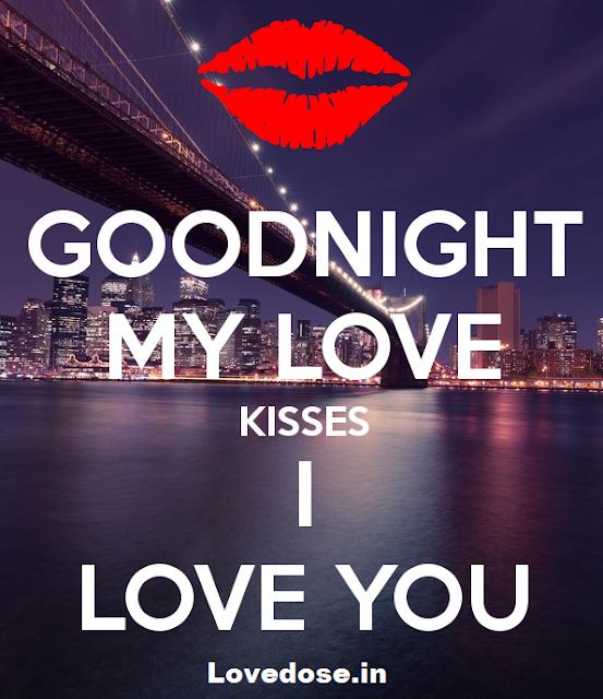 romantic good night kiss images