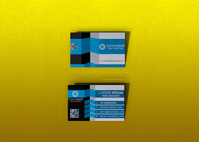 Business Card PSD Mockup File For Photoshop Free Download