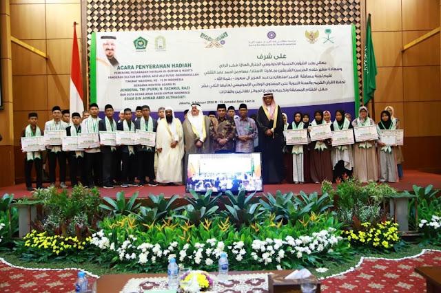 MHQH ke-12, Delegasi Tangsel Juarai Hafalan Al-Quran Kategori 30 Juz