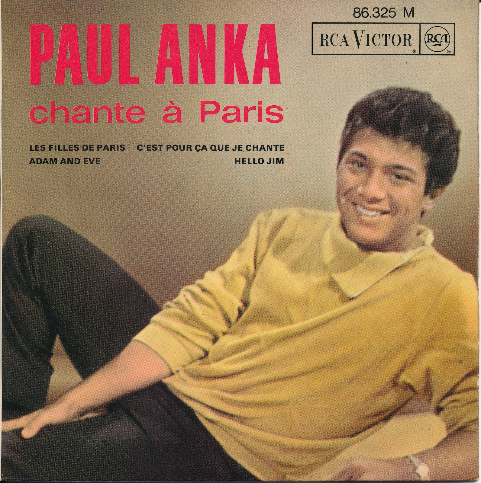 Sixties Beat Paul Anka Sing In French Rare French Ep