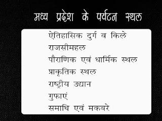 Tourist places of Madhya Pradesh