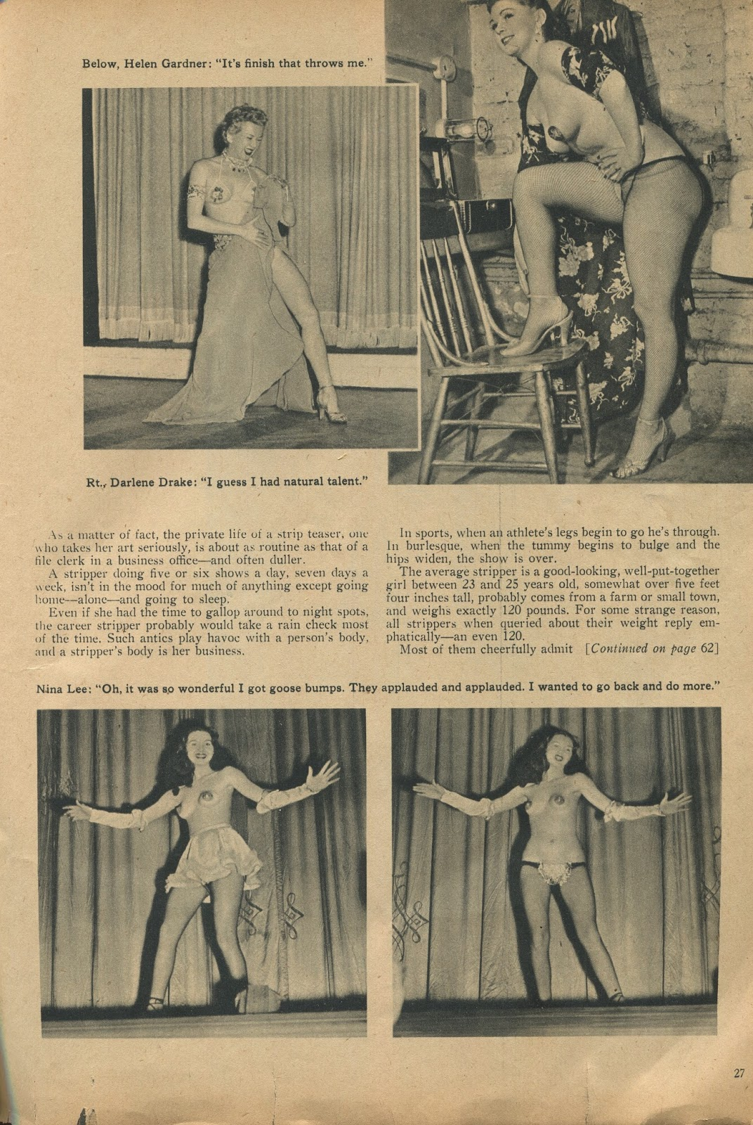 History of strip tease — img 1