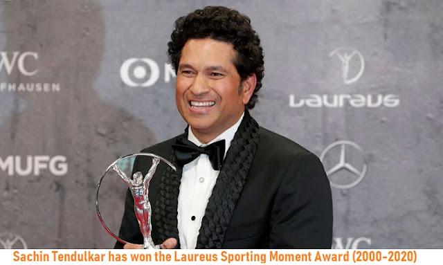 Sachin Tendulkar has won the Laureus Sporting Moment Award (2000-2020)