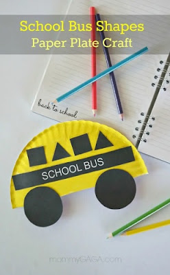 Easy Paper Plate School Bus Shapes Craft
