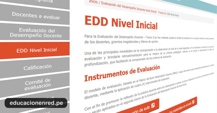 MINEDU: Instrumentos de Evaluación para Evaluación del Desempeño Docente (EDD) www.minedu.gob.pe