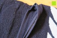 """Ränder gebogen: ZOLLNER hochwertiges Strandlaken / Strandtuch / Badetuch 100x200 cm marine-weiß, in weiteren Farben erhältlich, direkt vom Hotelwäschehersteller, Serie """"Marina"""""""
