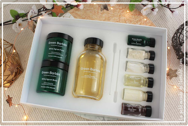 White agrum de Green Barbès : kit cosmétique maison