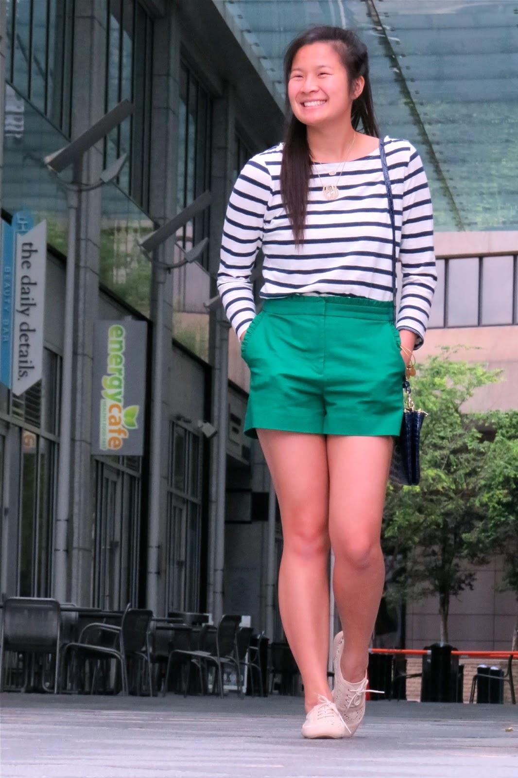 J.Crew Green Shorts