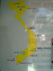 Mapas de Vietnam