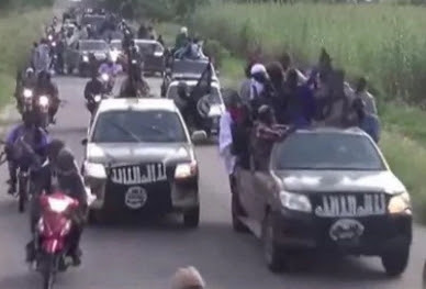 boko haram terrorists trucks motorcycle attack