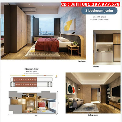 Apartemen Minimalis Mewah di Kota Tangerang, Cocok Untuk Investasi, Lokasi Strategis, CP 081.297.977.578