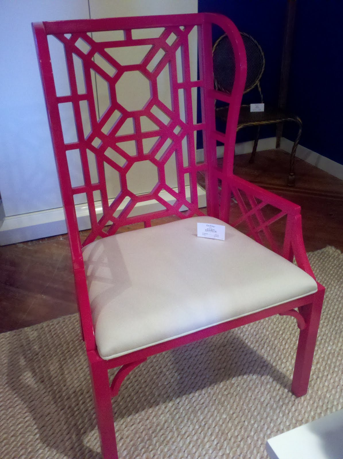 lilly pulitzer chair wooden garden chairs ebay painted river furniture