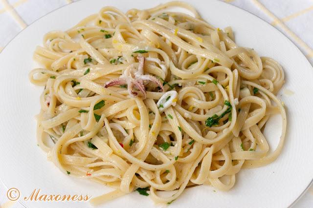 Спагетти с кальмарами от Джейми Оливера. Итальянская кухня