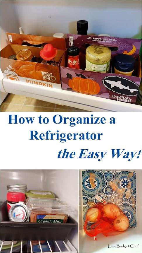 how to organize a small refrigerator