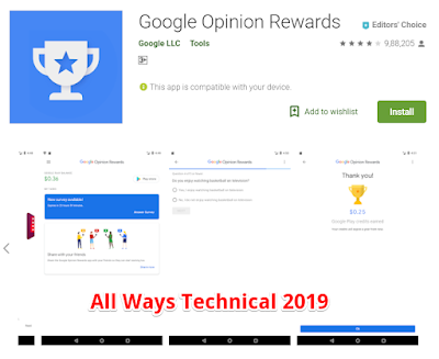 Earning Money Apps For Android - Google Opinion Rewards