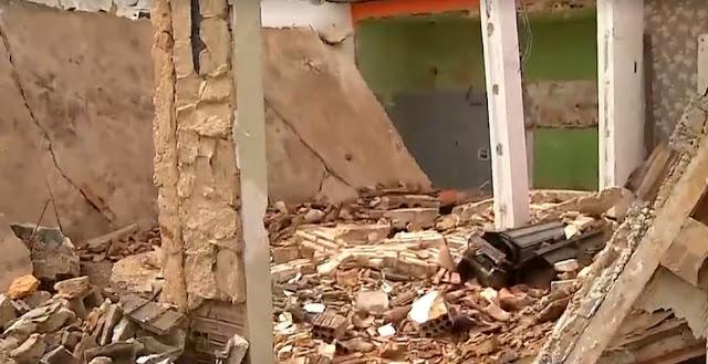 Laje de imóvel desaba e três pessoas ficam feridas na Zona Sul de Natal