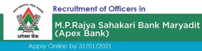 Apex Bank Officer Grade Vacancy Recruitment 2021