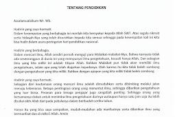 Contoh Teks Pidato Tentang Pendidikan Sekolah