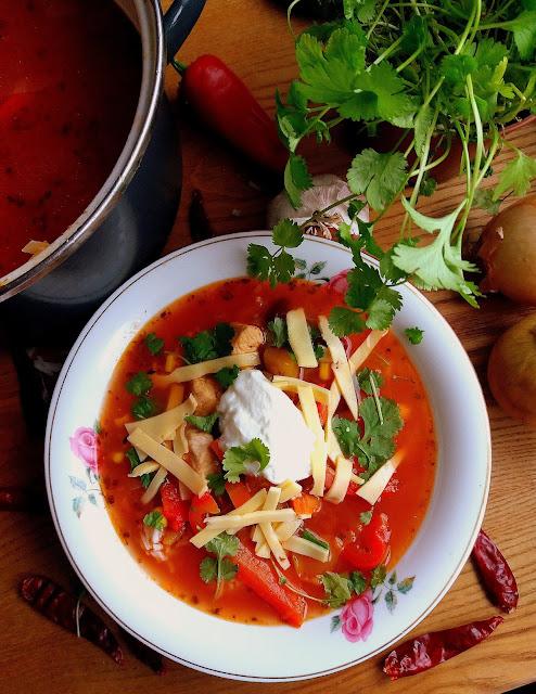 Meksykańska zupa z kurczakiem / Chicken Fajita Soup