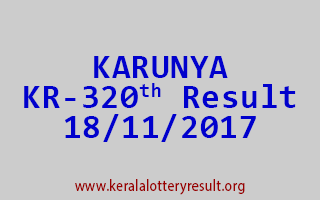 KARUNYA Lottery KR 320 Results 18-11-2017