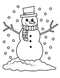 דפי צביעה לחורף - בובת בשלג