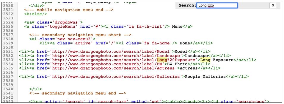 Menu HTM editing cara mengganti NAvbar