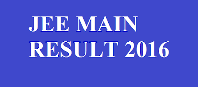 JEE Main Result 2016