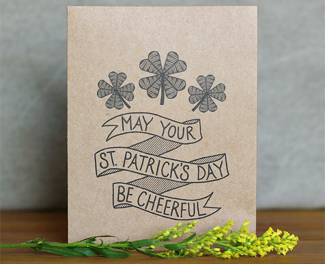 Saint Patrick's Day card
