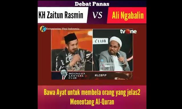 Ngabalin vs Ustadz Zaitun Rasmin ILC